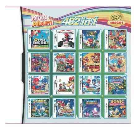 Game Pack Card- Mario Album Video, Cartridge Console For Ds, 2ds, 3ds