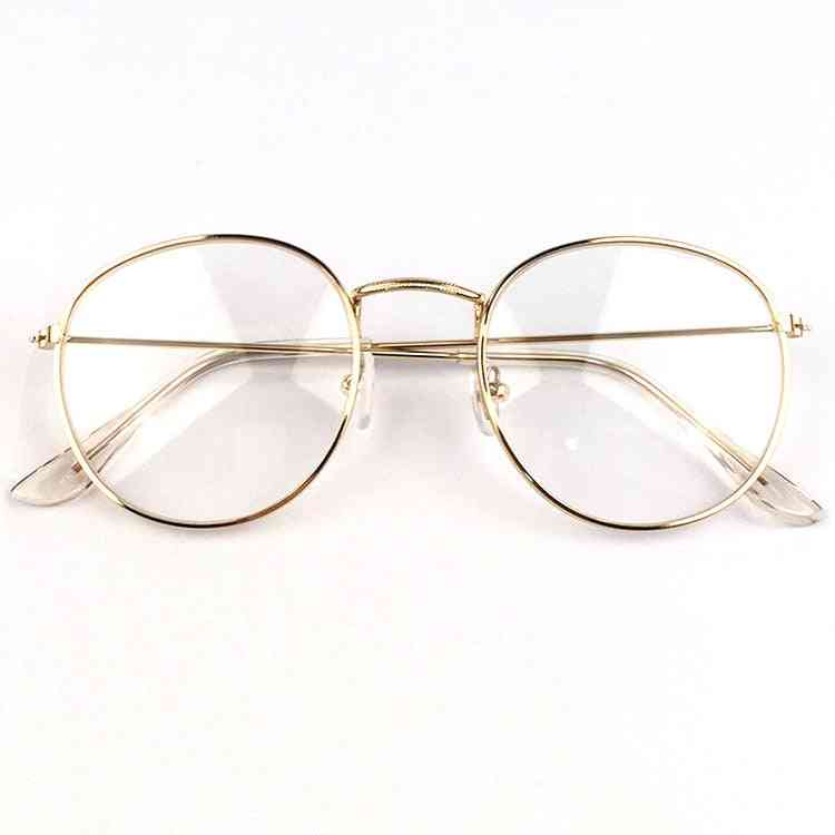 Metal Round Glasses, Optical Frames Clear Lens