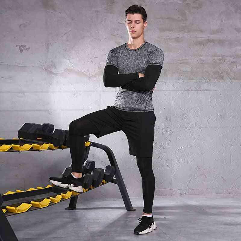 Men Sportswear Compression Sport Suits Breathable Gym Clothes