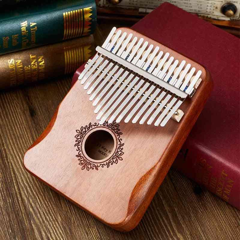 Kalimba Thumb Piano, Handguard Wood Mahogany Mbira Body Musical Instruments