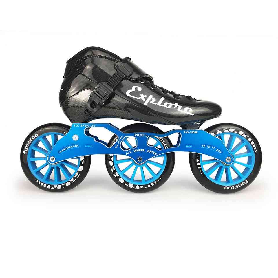 Carbon Fiber Competition Skate 3*125mm Or 4*100/110mm, Patines Rollerblade