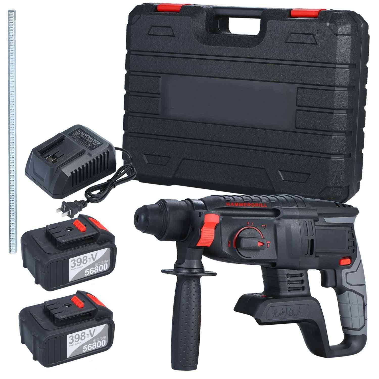 21v Heavy Duty 4 Function Rotary Hammer Drill