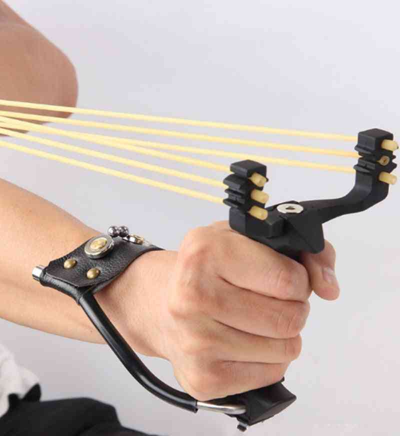 Powerful Slingshot With Wrist Rest, Hunting Sling Shot, Heavy-duty, Large For Fishing, Ball All-metal Material