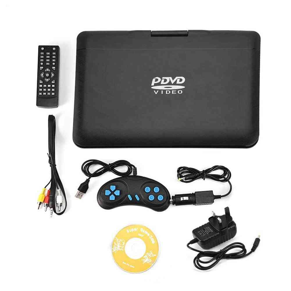 Cd Tv Game Dvd Player Hd Usb Outdoor Rechargeable Swivel Screen Lcd