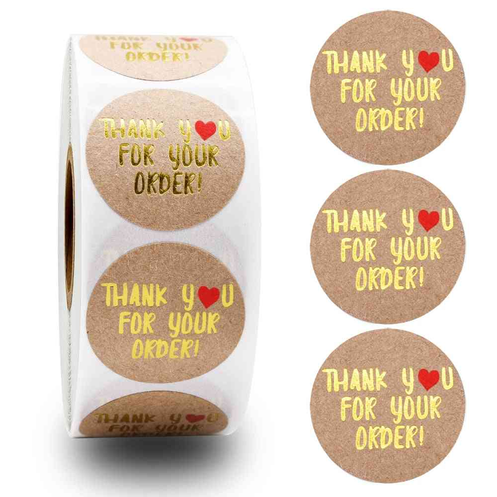 Handmade With Love Stickers, Floral Labels Sticker
