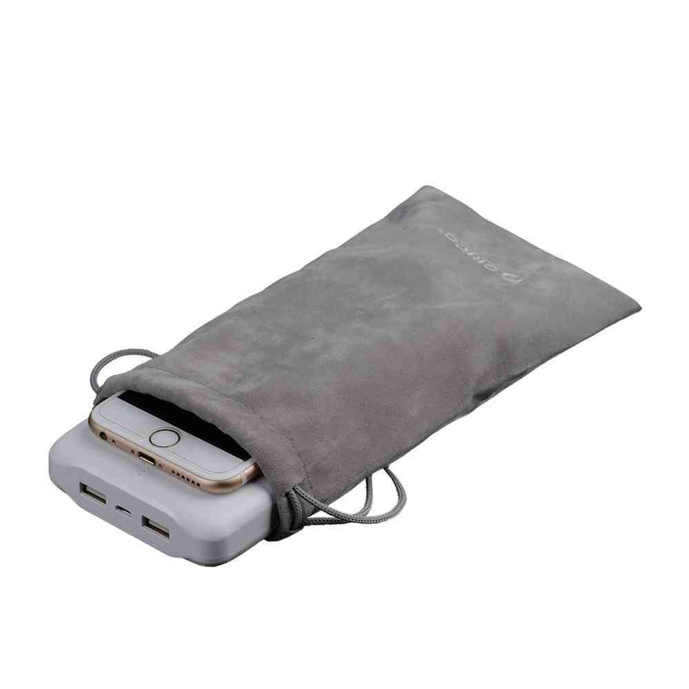 Velvet Mobile Hdd Bag For Usb Charger Cable Phone Power Bank