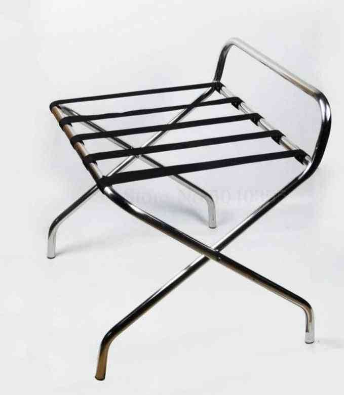 Thick Stainless Steel Luggage Rack Hotel Folding Shelf
