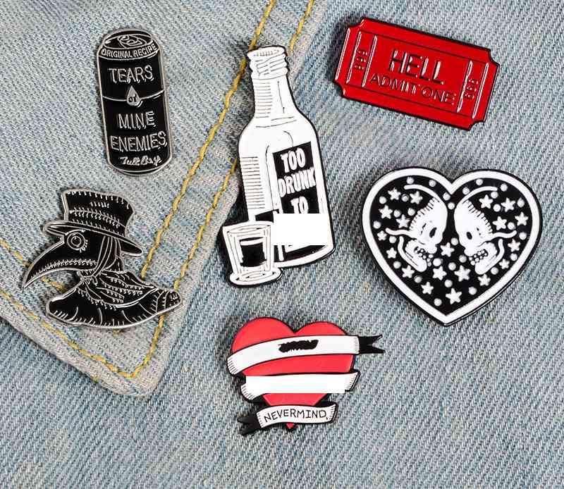Punk Collection Enamel Pins Brooch