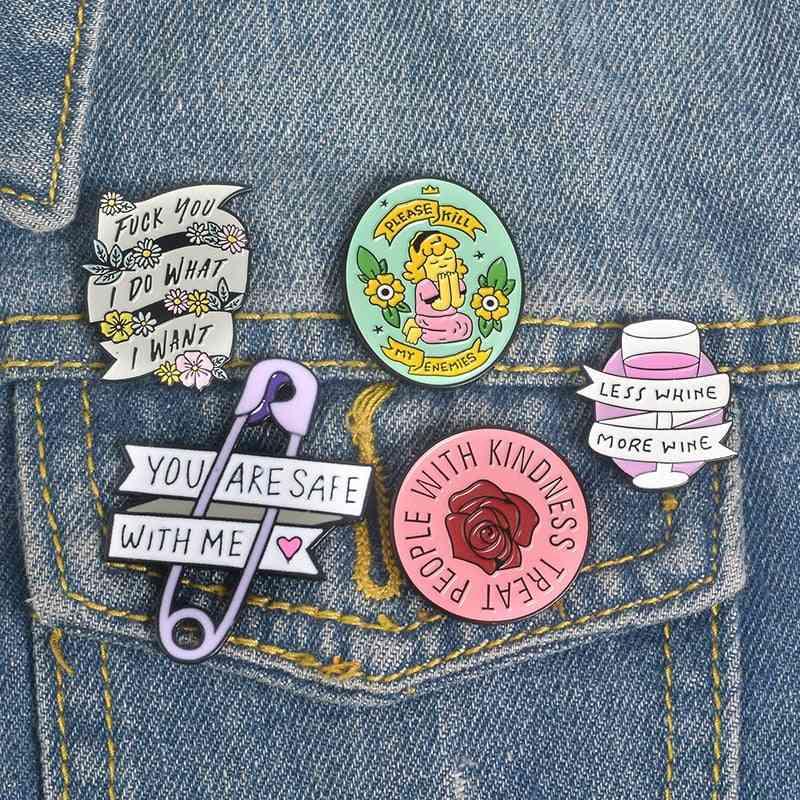 Girl Power, Kindness, Inspirational Lovely Enamel Pin