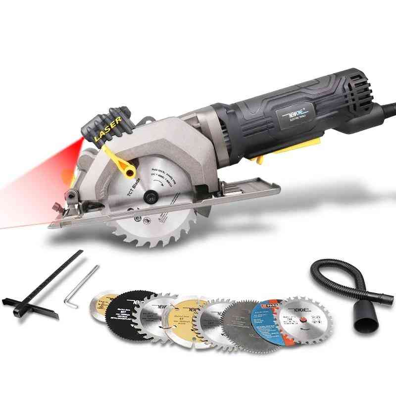 Mini Compact Circular Saw With Laser Guide