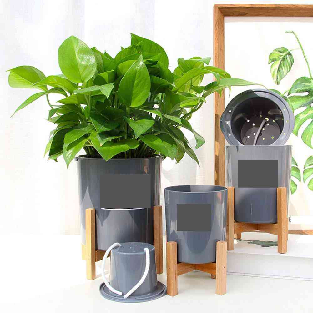 Wooden Four-legged Flower Stand, Strong Durable Holder Plant Pot Shelf