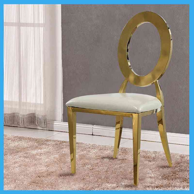 Metal Gold Wedding Chair With A Hole