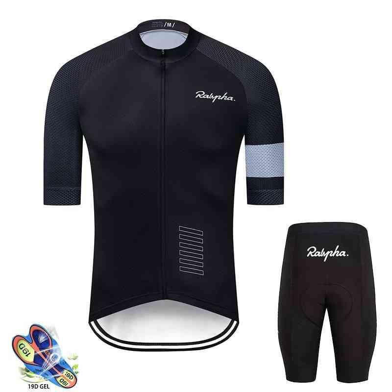 Cycling Jersey Suits- Outdoor Wear, Gel Pad Mountain, Bib Shorts Set-1