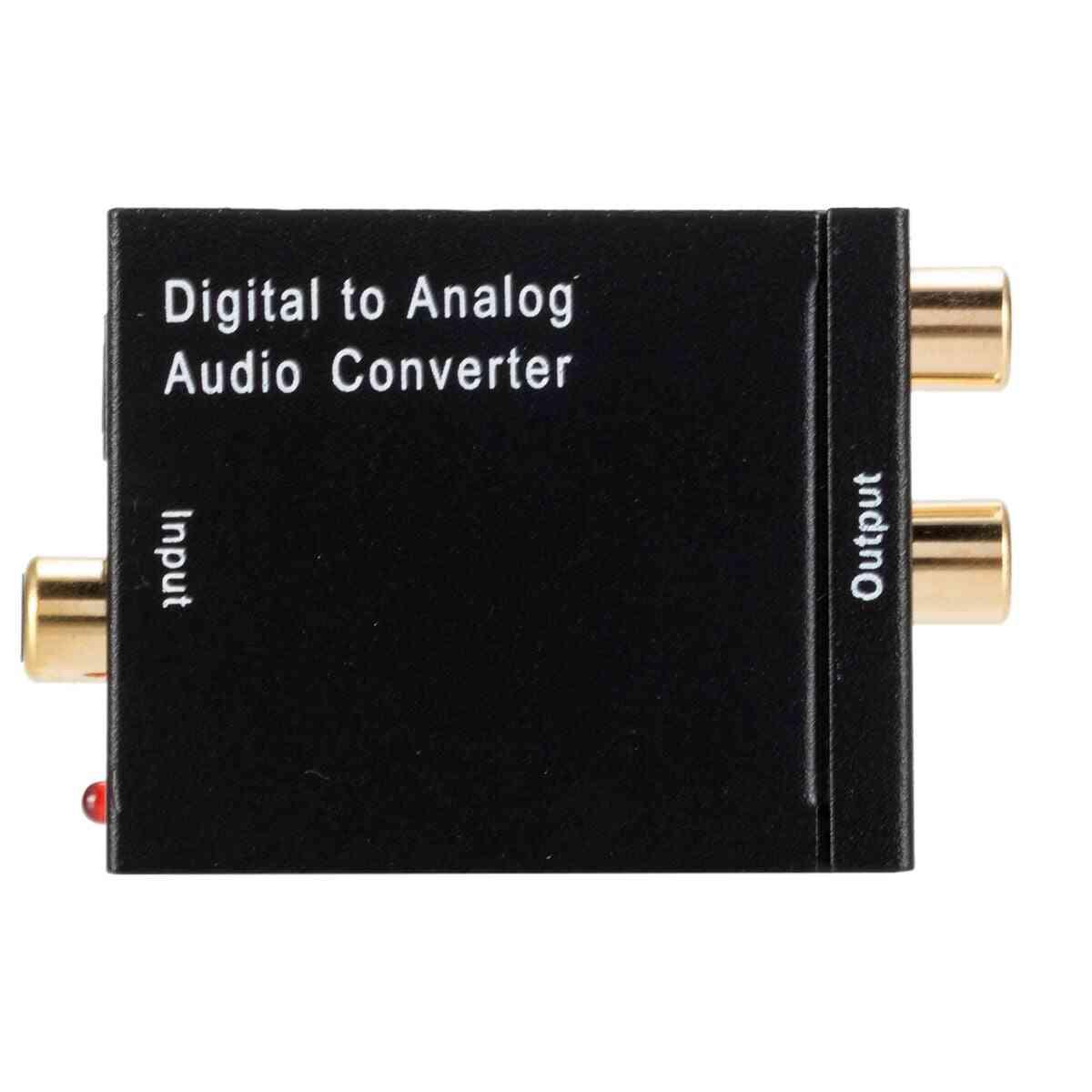Dac Digital To Analog Audio Converter 2*rca Amplifier