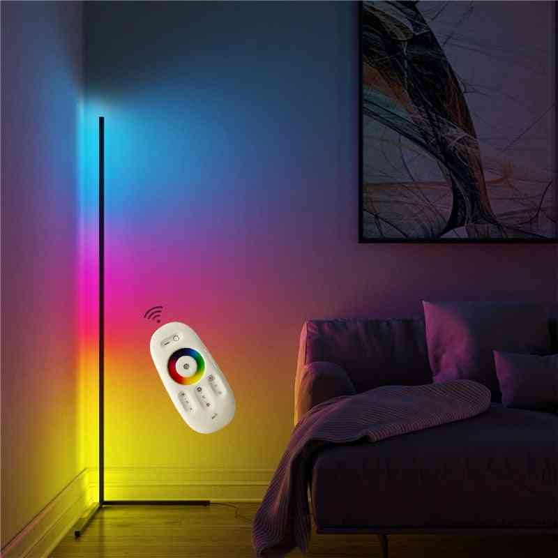 Remote Control Colorful Led Floor Modern Corner Atmosphere Standing Lamp