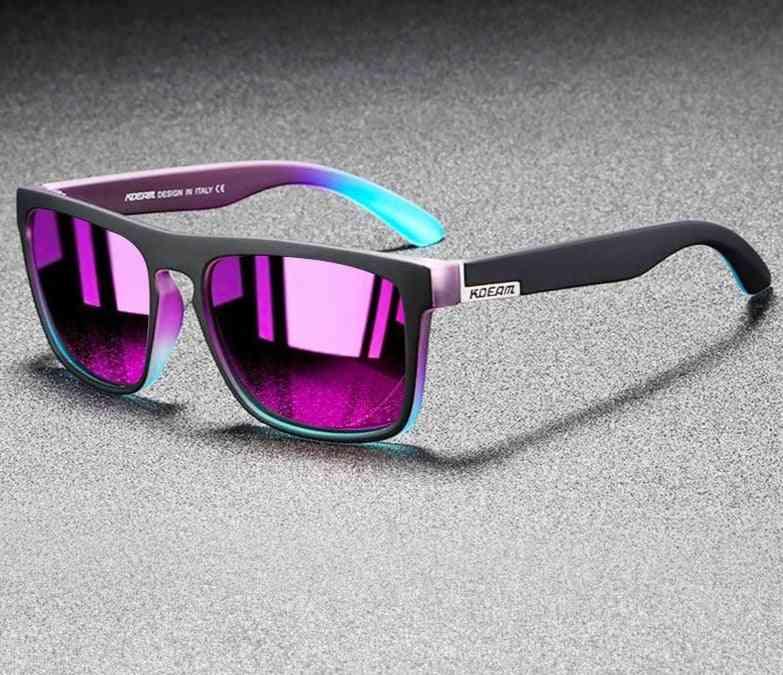 Mirror Polarized Men Ultralight Frame Square Sport Sun Glasses