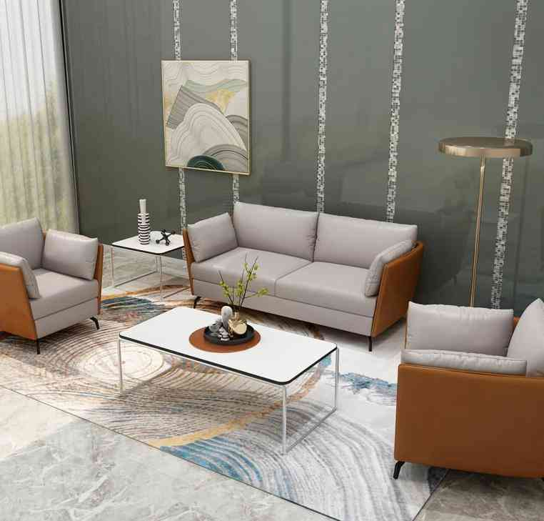 Modern Living Room, Couch Furniture, Leather Sofa Set