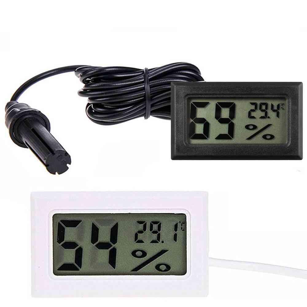 Digital Lcd, Thermometer Sensor Hygrometer Gauge, Monitoring Display Detector