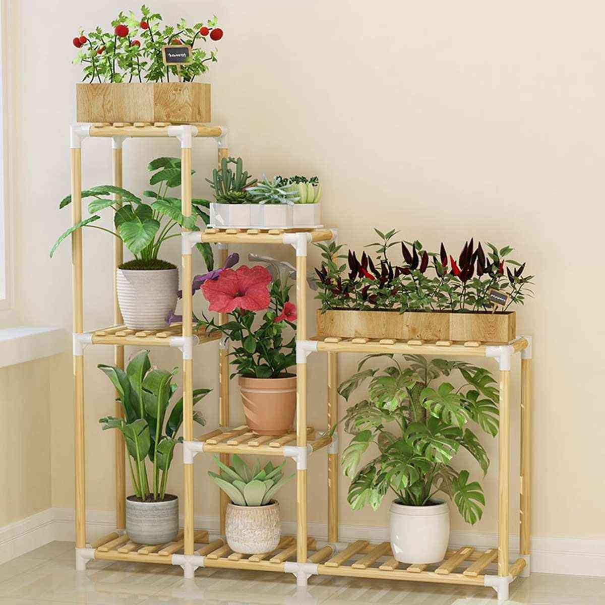Wooden Flower Rack, Plant Stand Multi-layer Shelves