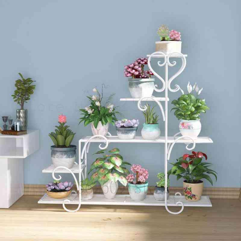 Flower Shelf Indoor Balcony Stand, Iron Hanging Orchid Rack
