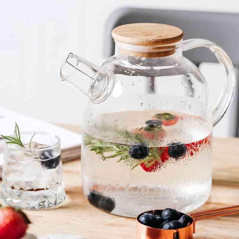 Borosilicate Glass Teapot Heat-resistant Large Tea Pot