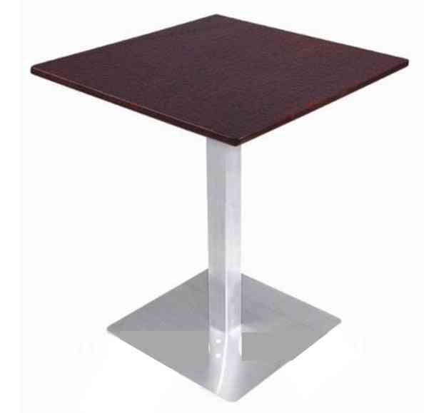 Coffee Table, Stainless Steel Base And Mdf Top