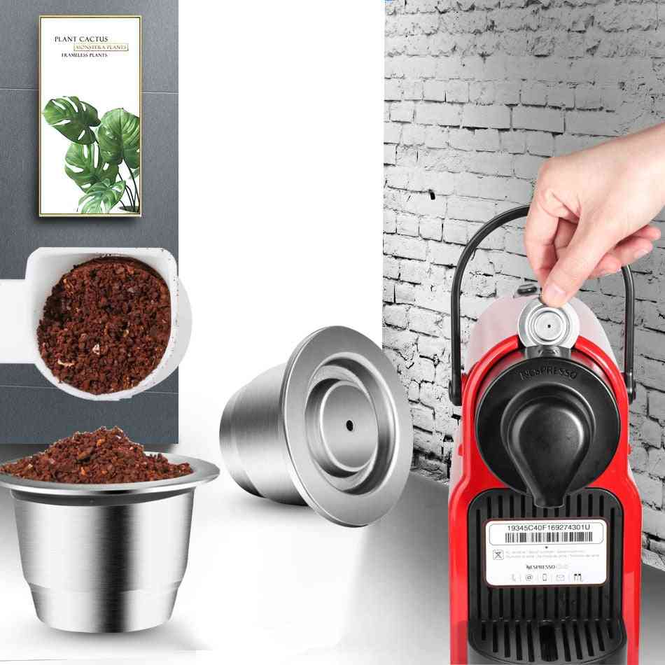 Stainless Steel Coffee Capsule For Nespresso, Inox, Refillable, Reusable Filter Pods
