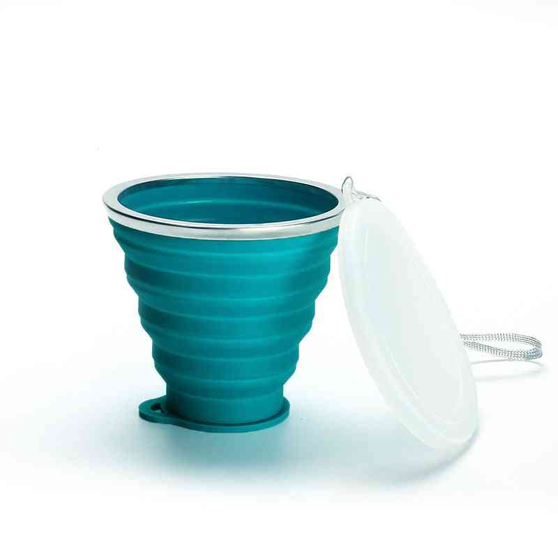 Folding Silicone Cup, Portable Telescopic Drinking Collapsible Cups