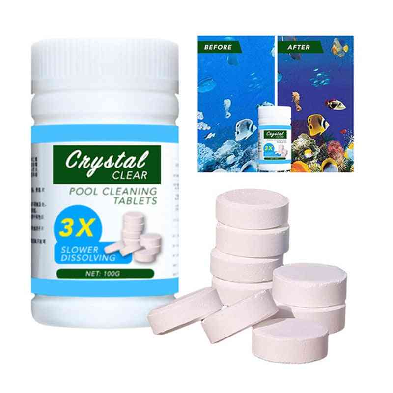 Disinfection Pills, Clarifier Chemical, Chlorine Instant, Swimming Pool, Cleaning Tablets