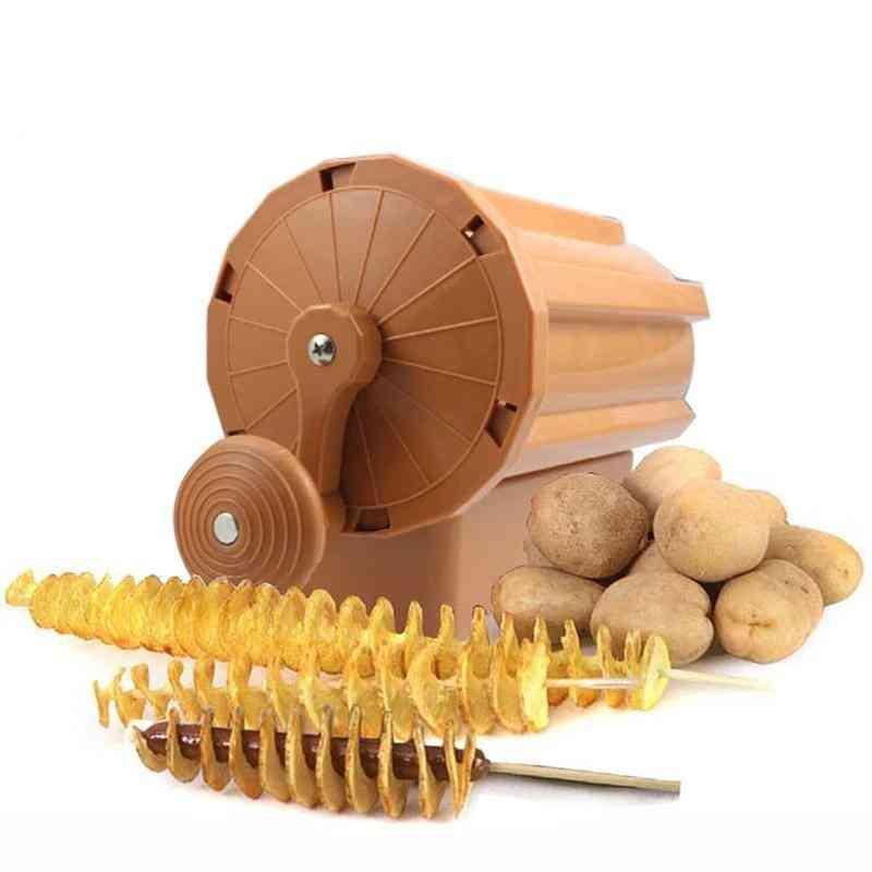 Manual Twist Spiral Potato Cutter Whirlwind, French Fries Slicer, Machine