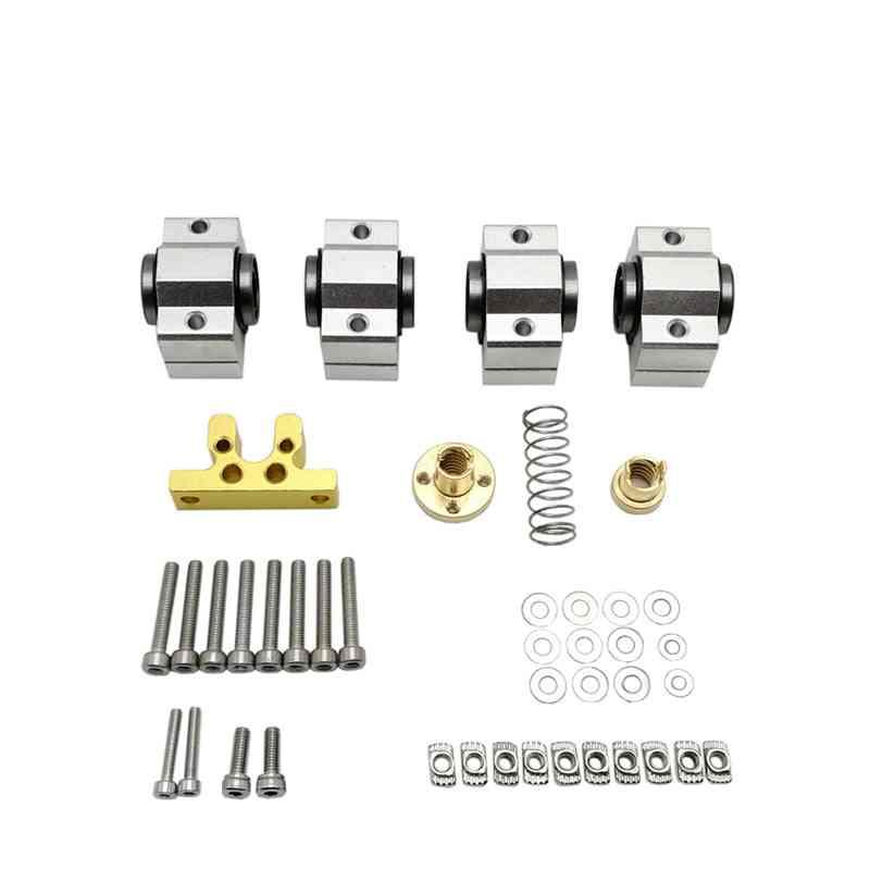 Cnc X-axis, Upgrade Kit (bearing Scs10vuu Screw Rod Lead 4mm)