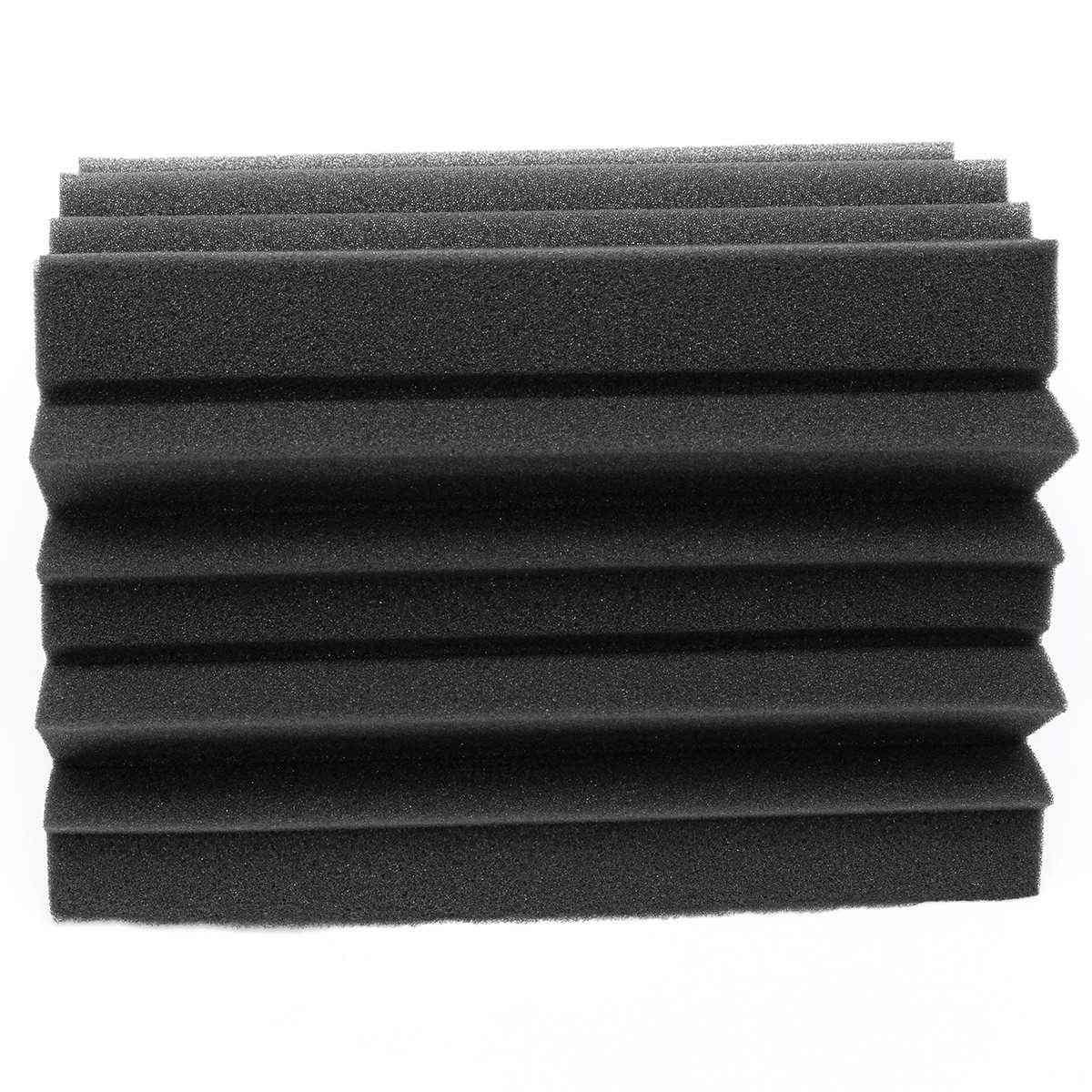 8pcs Soundproofing Acoustic Noise Sound Wedge Tiles Polyurethane Foam