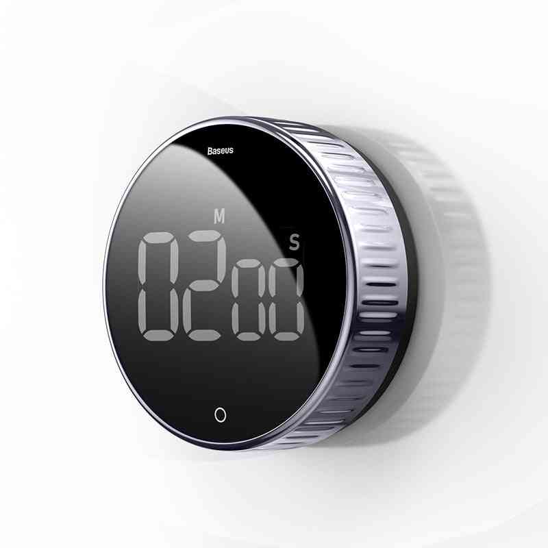Magnetic Digital Timer For Kitchen Cooking, Shower Study Stopwatch (no Battery)
