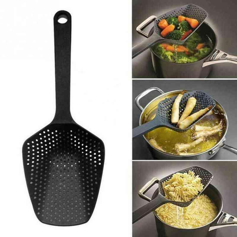 1pc Kitchen Nylon Soup Spoon Ladle Anti-scald Skimmer Strainer