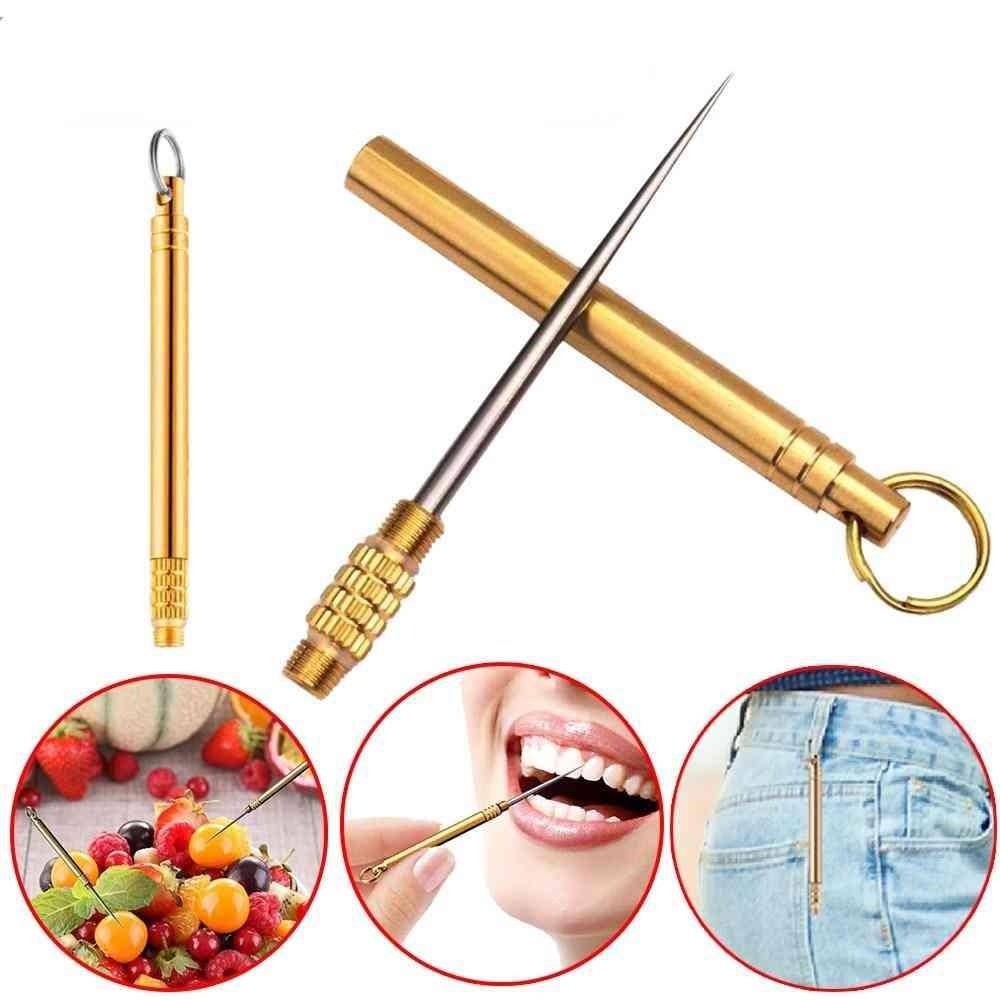 Titanium Edc Multifunctional Toothpick