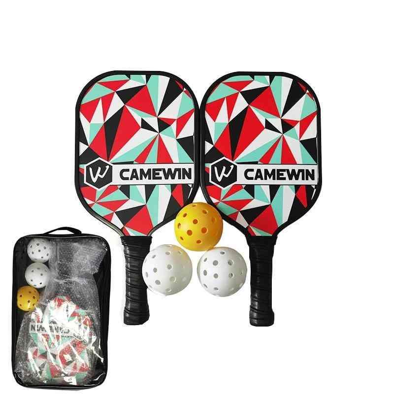 3-balls & 2-paddles, Bag Pickleball Racket Set