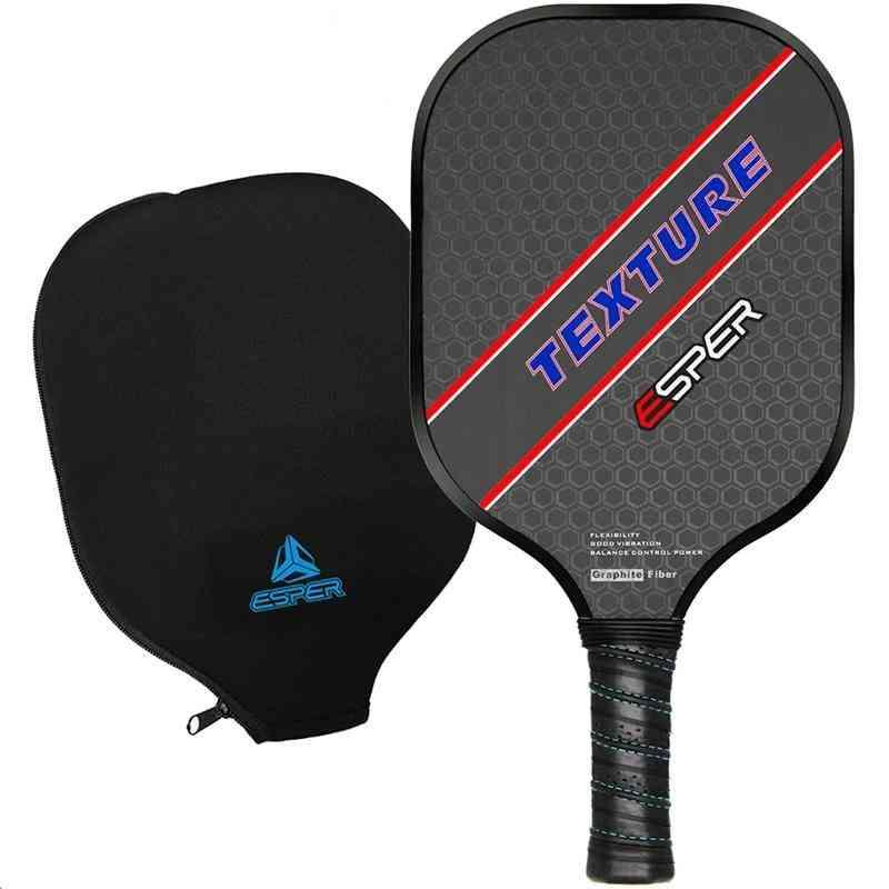 Pickleball Paddle- Lightweight Graphite Racquet, Textured Surface Racket (black)