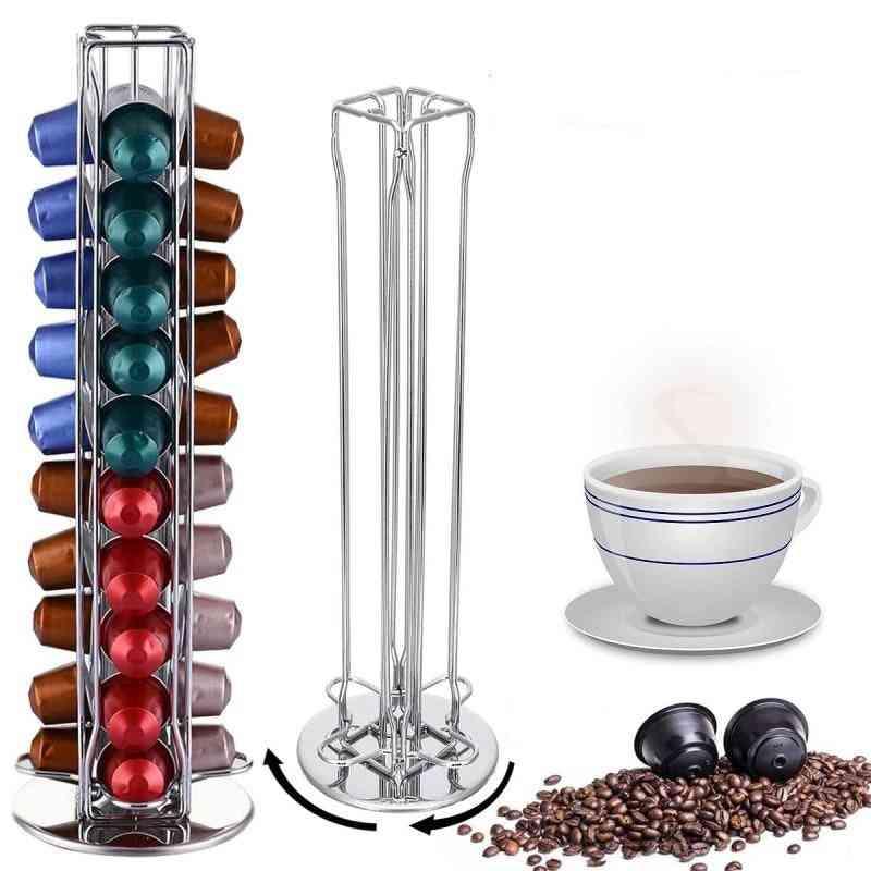 Various Optional Nespresso Coffee Pods Holder, Rotating Rack