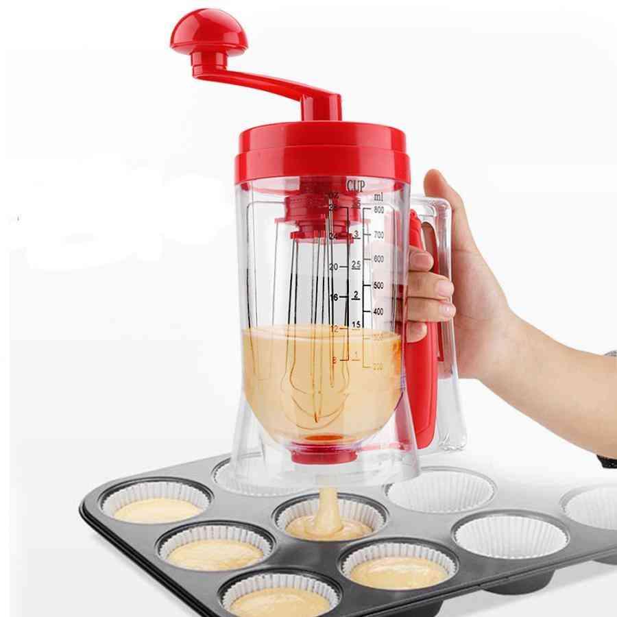 Batter Dispenser Manual Pancake, Cupcake Cream & Butter Mixer Blender Machine