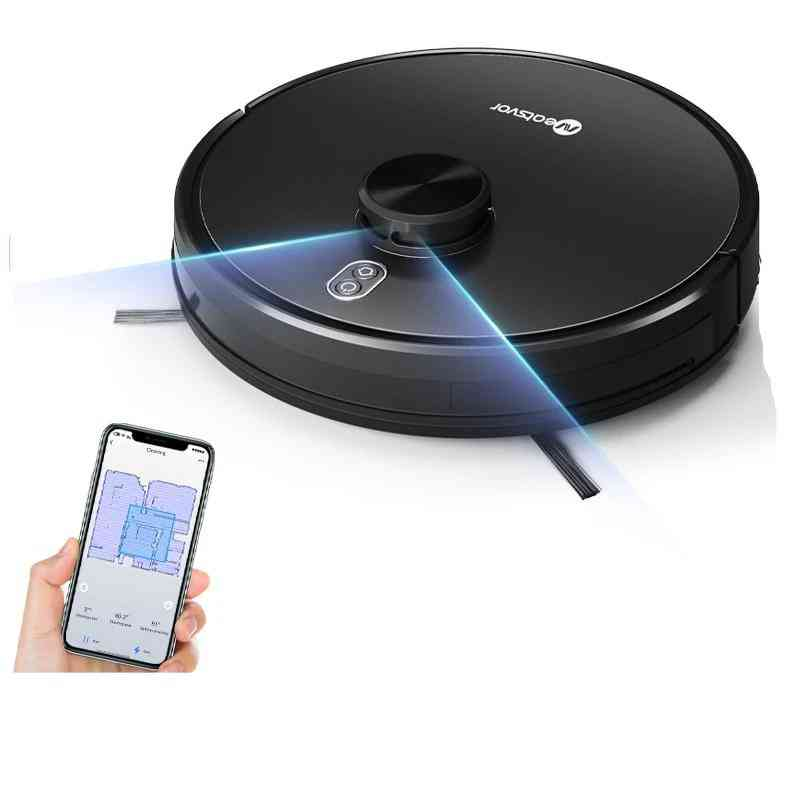 4000pa Laser Navigation Robot Vacuum Cleaner, App Virtual Wall Breakpoint Cleaning