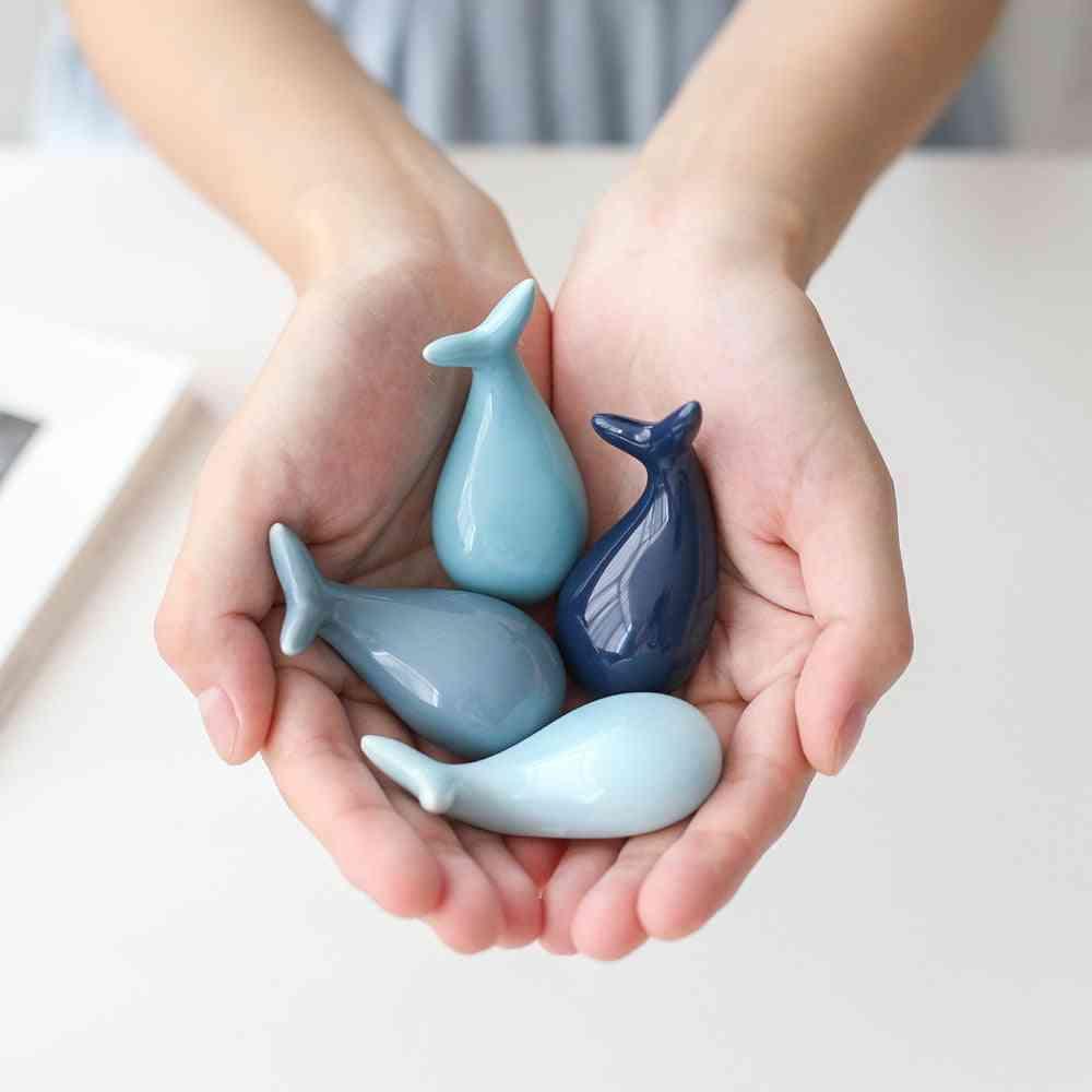 Lucky Whale Ceramic Chopsticks Holder