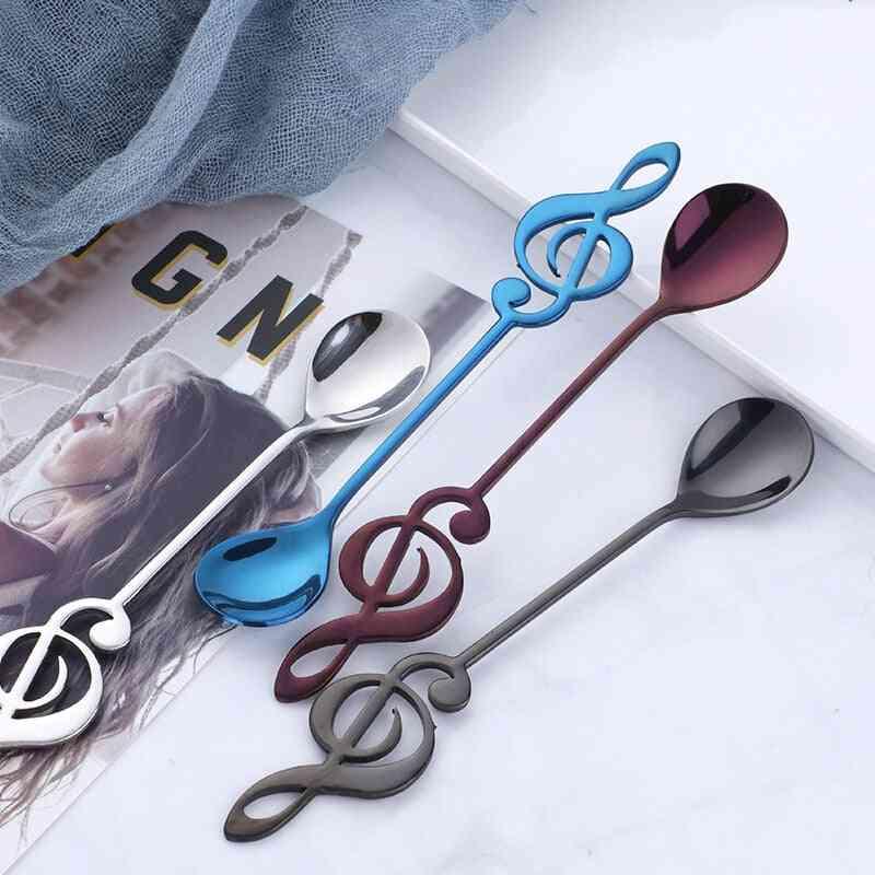 Stainless Steel  Music Theme Tea Stirring Small Spoon