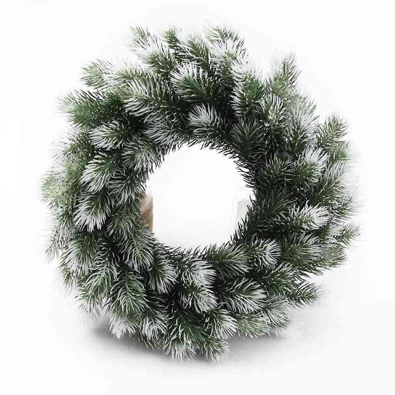Artificial Plants Decorative Flowers Plastic Pine Needle Snowflake