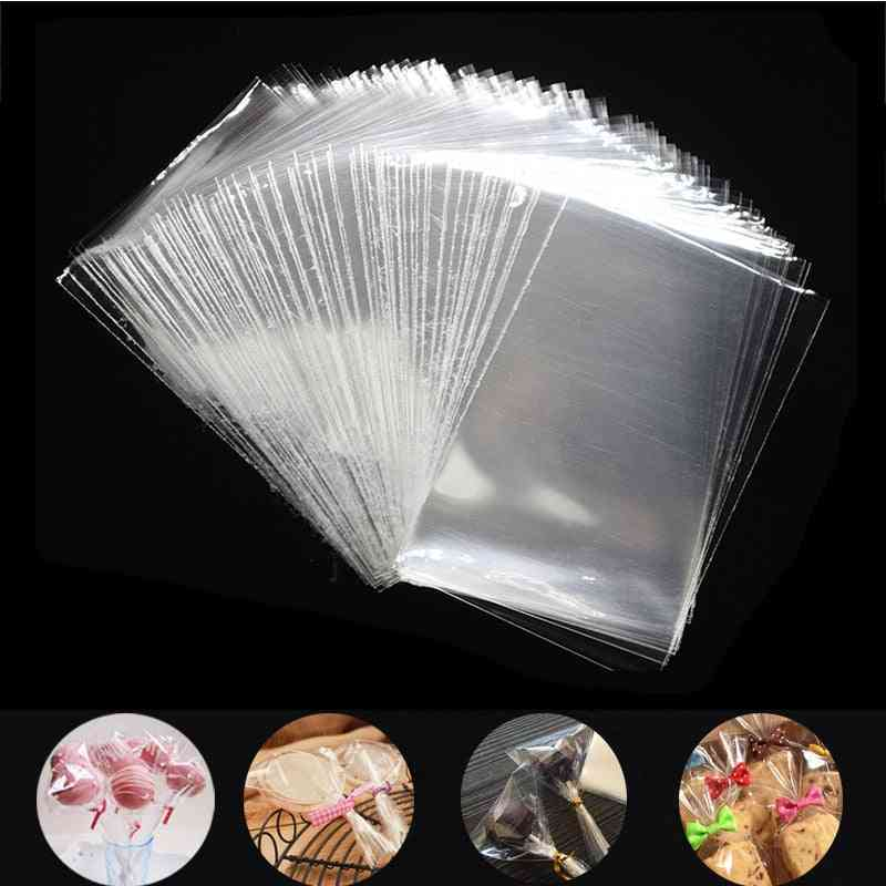 Transparent Plastic Bags For Candy Lollipop, Cookie Packaging
