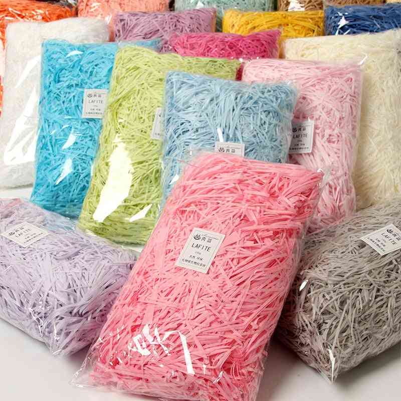 Colorful Shredded Crinkle Paper, Raffia Candy Boxes Diy Box Filling Material