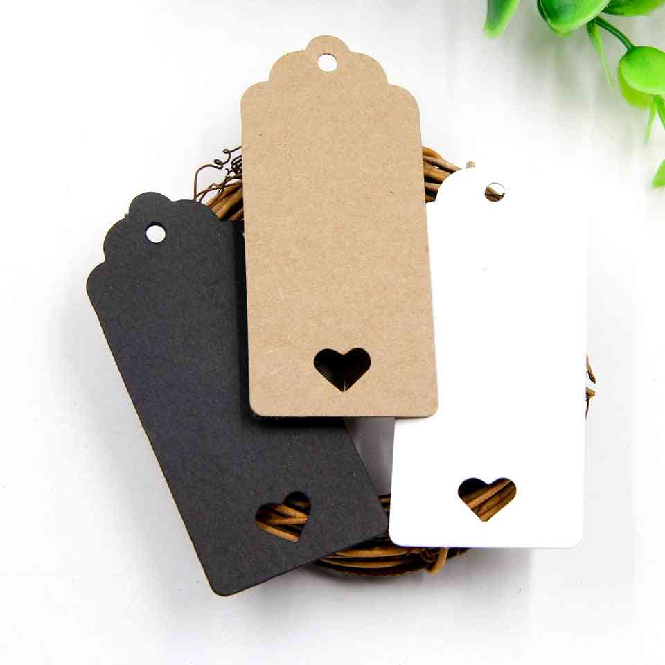 Kraft Paper Tag, Hollow Love Labels Card, Hang Wedding Party Note