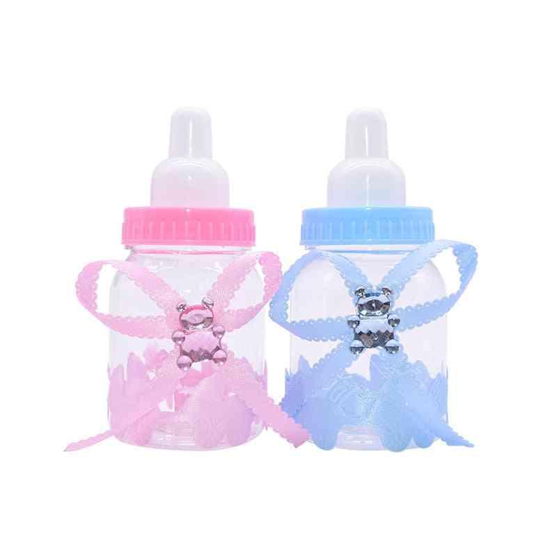 Transparent Plastic Feeder Bottle, Candy Box, Wedding, Birthday, Baby Shower Cake