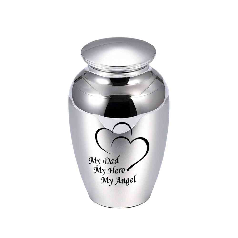 Ashes Funeral, Memorial Metal Container, Human Ashes Urn