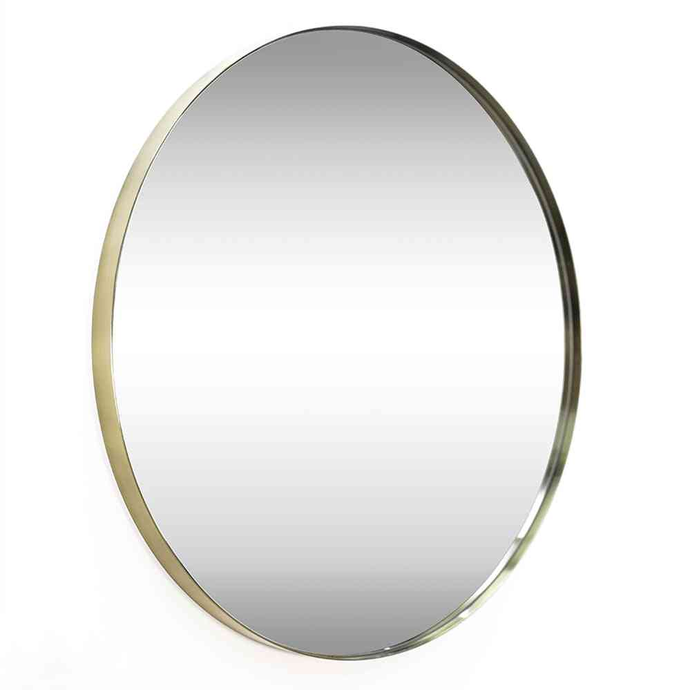 Advanced Contemporary Brushed Metal Wall Mirror