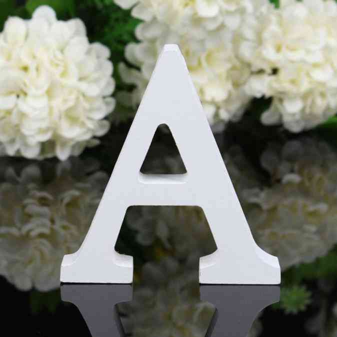 Freestanding Wooden Letters, White Alphabet For Birthday Party Decorations